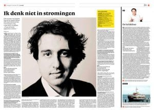 Jesse Klaver in NRC Next by Roger Cremers 2012