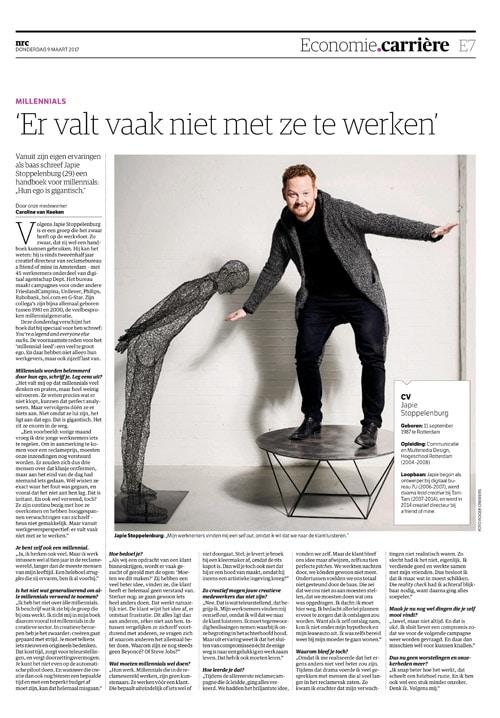 Japie Stoppelenburg in NRC Handelsblad by Roger Cremers 2017