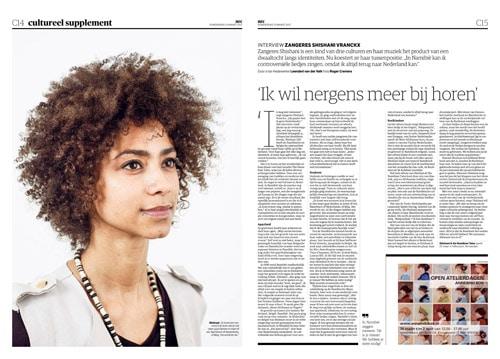 Singer-songwriter Shishani in NRC Handelsblad by Roger Cremers 2017