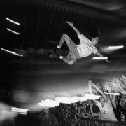 Nederland, Biddinghuizen, 25-08-1997 Stagediver bij het lowlands festival. PHOTO AND COPYRIGHT ROGER CREMERS