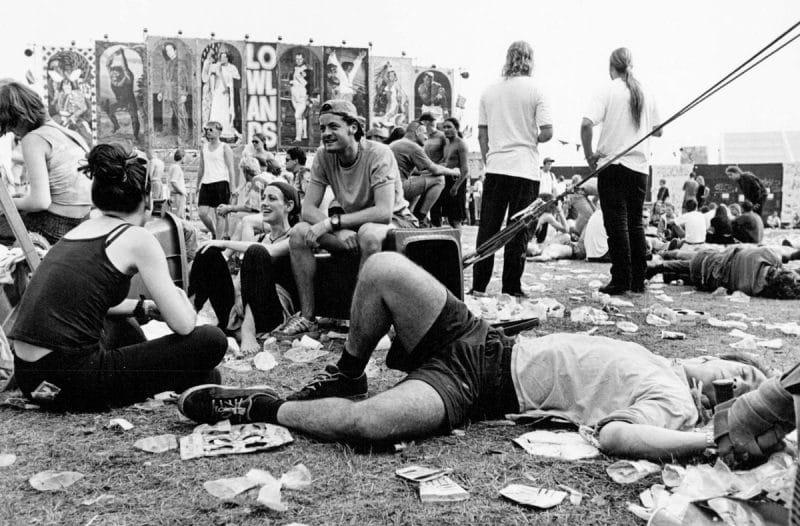 Nederland, Biddinghuizen, 25-08-1997 Lowlands 1997 (voluit: A Campingflight to Lowlands Paradise) werd van 22 tot 25 augustus 1997 gehouden in Biddinghuizen. Het was de 5e editie van het Lowlandsfestival. Met 40.000 verkochte kaarten PHOTO AND COPYRIGHT ROGER CREMERS
