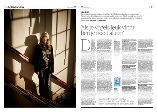 American novelist Nell Zink in NRC Handelsblad boeken by Roger Cremers 2018