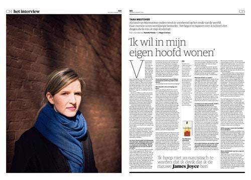 Tara Westover in NRC Handelsblad by Roger Cremers 2018