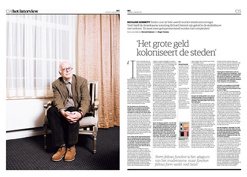 Richard Sennett by Roger Cremers in NRC Handelsblad 2019