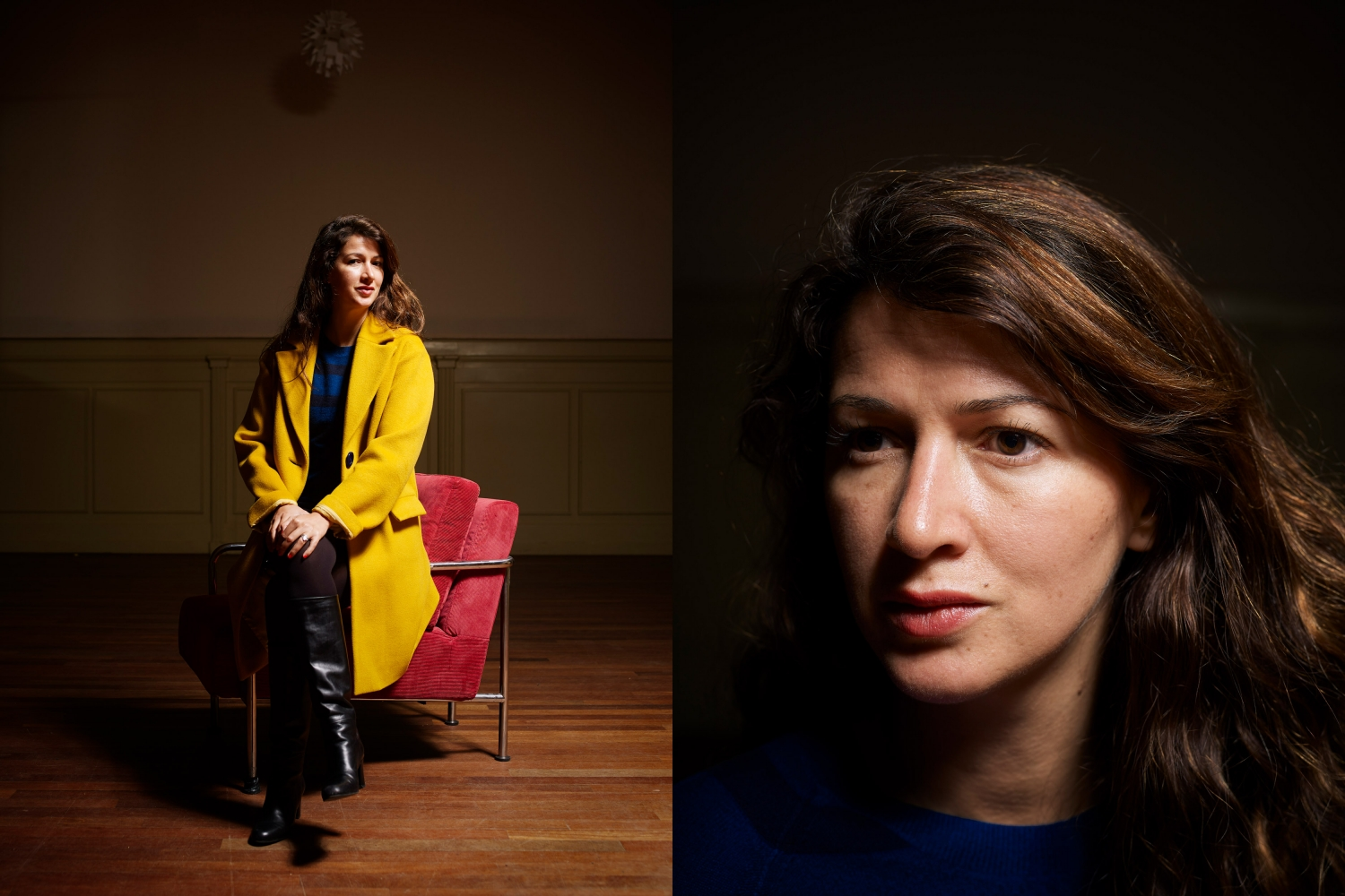 Nederland, Amsterdam, 07-02-2018 Zineb El Rhazoui, Moroccan-born French journalist. She is a columnist for Paris-based satirical magazine Charlie Hebdo PHOTO AND COPYRIGHT ROGER CREMERS
