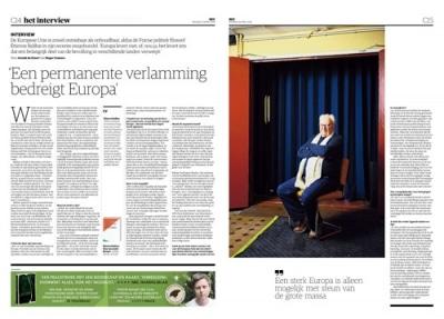Étienne Balibar in NRC Handelsblad by Roger Cremers 2019