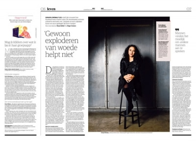 Soraya Chemaly in NRC Handelsblad by Roger Cremers 2019