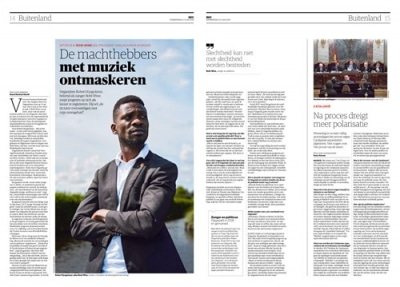 Robert Kyagulanyi Ssentamu alias Bobi Wine by Roger Cremers 2019 for NRC Handelsblad