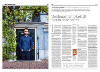 Jonathan Safran Foer in NRC Handelsblad by Roger Cremers 2019