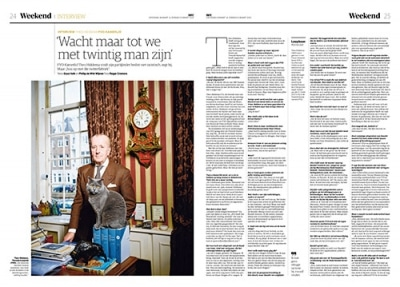 Theo Hiddema in NRC Handelsblad by Roger Cremers 2020