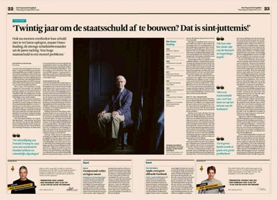 Onno Ruding in het Financieele Dagblad by Roger Cremers 2020